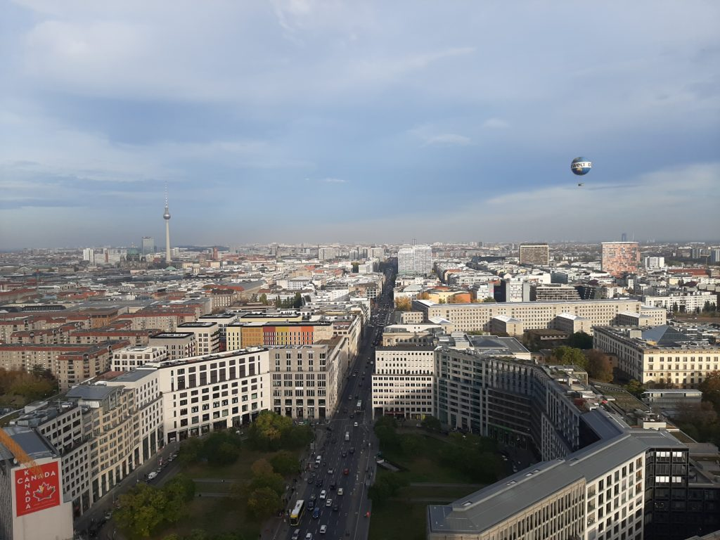Blick vom Potsdamer Platz Richtung Osten in die Leipziger Straße
